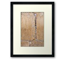Wailing Wall Closeup of the notes to God in the cracks Framed Print