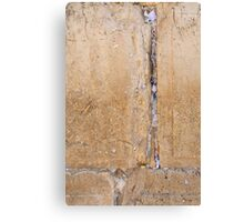 Wailing Wall Closeup of the notes to God in the cracks Canvas Print