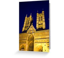 Lincoln Cathedral at night Greeting Card