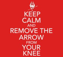 Keep Calm and Remove Arrow from Your Knee by Vladyslav Varvanin