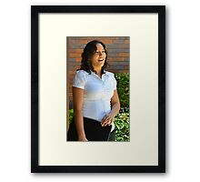 Young businesswoman standing  Framed Print