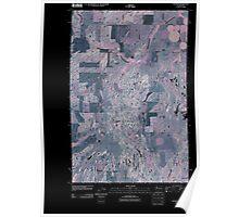 USGS Topo Map Washington State WA Waukon 20110401 TM Inverted Poster