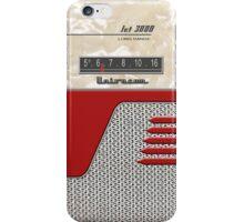 Transistor Radio - 50's Jet Red iPhone Case/Skin