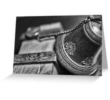 mysterious meetings Greeting Card