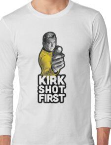 Kirk Shot First Long Sleeve T-Shirt