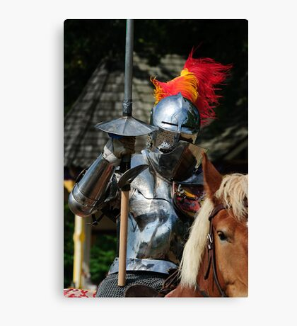 Knight in shinning armour Canvas Print