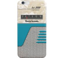 Transistor Radio - 50's Jet Aquamarine iPhone Case/Skin