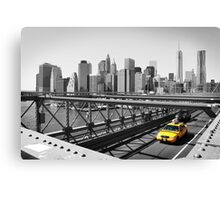 Yellow taxi Canvas Print