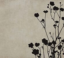 Buttercups in Beige & Gray by Elle Campbell