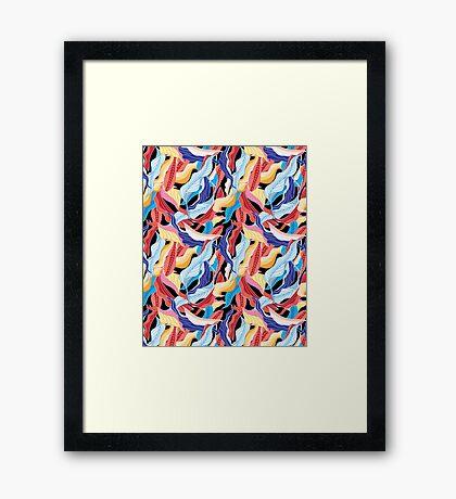 autumn pattern Framed Print