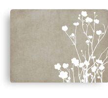 Buttercups in Beige & White Canvas Print