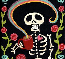 Skelly + Coffee = Rainbow by Pink-Ivy