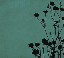 Buttercups in Blue & Gray by Elle Campbell