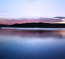 Sunset At Gosford Waterfront 2 (2 shot Panorama) by Timothy Ciantar