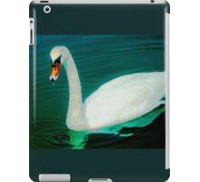 Swan on an aqua lake iPad Case/Skin