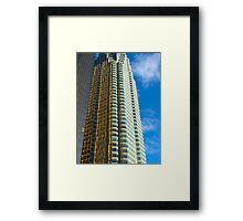 Rippled skyscraper Framed Print