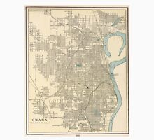 Vintage Map of Omaha Nebraska (1901) Unisex T-Shirt