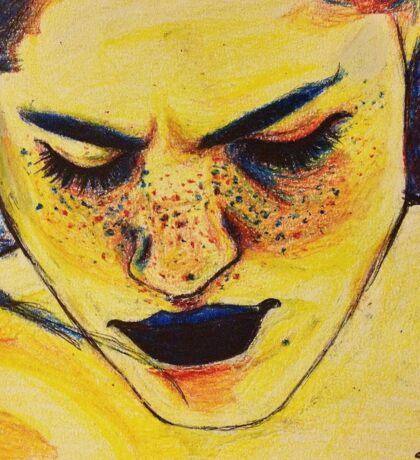 yellow paint Sticker