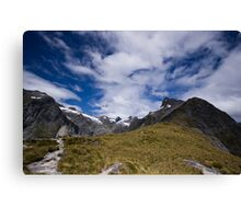 Mackinnon Pass - New Zealand. Canvas Print