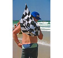 The Surf Boat Flag Man, Coffs Harbour, NSW, Australia Photographic Print
