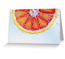 Macro Blood Orange Greeting Card