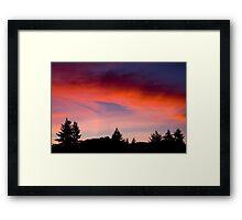 Red Sky At Night ... Sailors Delight Framed Print