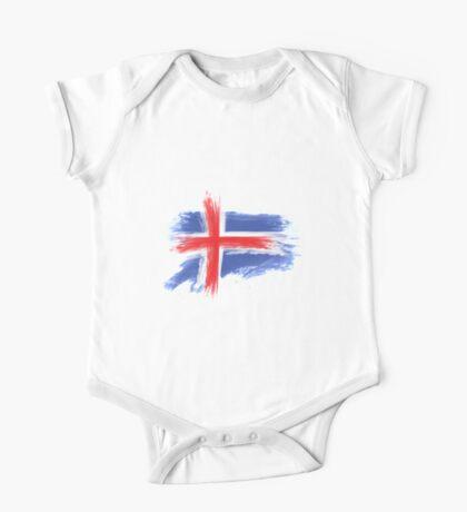 Iceland flag One Piece - Short Sleeve