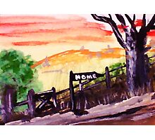 Rural roadhome,watercolor Photographic Print