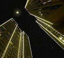 Embarcadero and the Full Moon by David Denny
