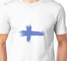 Finland Flag brush style Unisex T-Shirt
