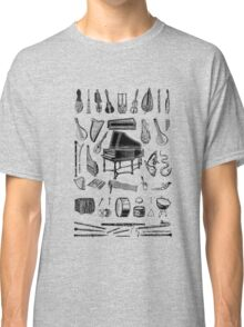 Vintage Classical Music Instruments Dictionary Art Classic T-Shirt