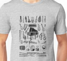 Vintage Classical Music Instruments Dictionary Art Unisex T-Shirt