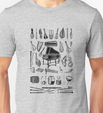 Vintage Classical Music Instruments Dictionary Art Unisex T-Shirt