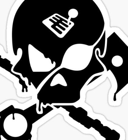 Motorsports Pirate Sticker