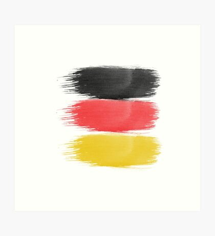 Germany Flag paint-brush Art Print