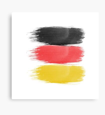 Germany Flag paint-brush Canvas Print