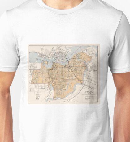Vintage Map of Ottawa Canada (1915) Unisex T-Shirt