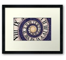 Space and Time Framed Print