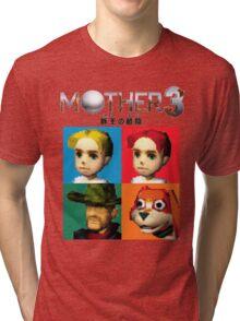 MOTHER 3 / EarthBound 64 Tiles (MOTHER 3 Logo) Tri-blend T-Shirt