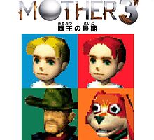 MOTHER 3 / EarthBound 64 Tiles (MOTHER 3 Logo) by Quesadillan64