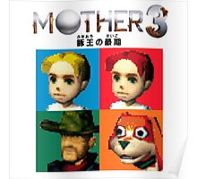 MOTHER 3 / EarthBound 64 Tiles (MOTHER 3 Logo) Poster