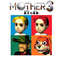 MOTHER 3 / EarthBound 64 Tiles (MOTHER 3 Logo) Photographic Print
