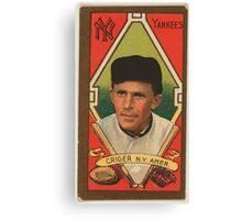 Benjamin K Edwards Collection Louis Criger New York Yankees baseball card portrait Canvas Print