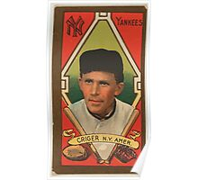 Benjamin K Edwards Collection Louis Criger New York Yankees baseball card portrait Poster