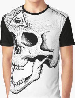 Illuminati Skull Graphic T-Shirt