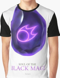 Soul of the Black Mage -white Graphic T-Shirt