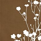 Buttercups in Brown & White by Elle Campbell