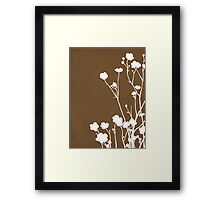 Buttercups in Brown & White Framed Print