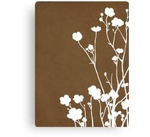 Buttercups in Brown & White Canvas Print