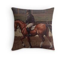 Horse and Rider Warming Up Throw Pillow